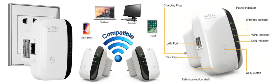 300 Mbps Wireless Wifi Repeater