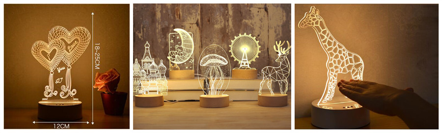 3D Illusion LED Night Light