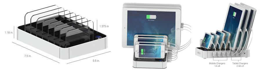 7-Port USB Charging Station