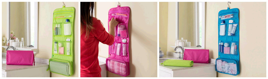 Portable Hanging Wash Cosmetic Storage Bag