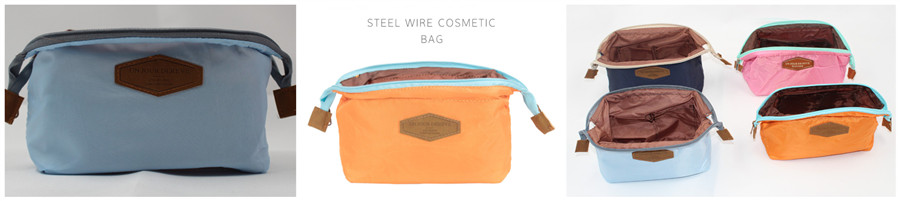 Steel Wire Cosmetic Storage Bag