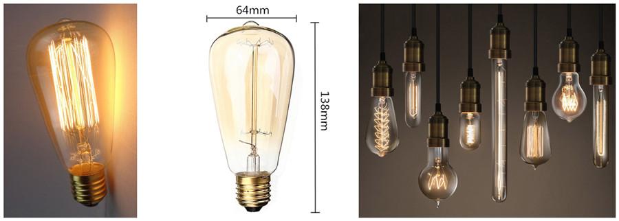 Vintage Tungsten Light Bulb