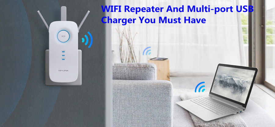 WIFI Repeater And Multi-port USB Charger You Must Have