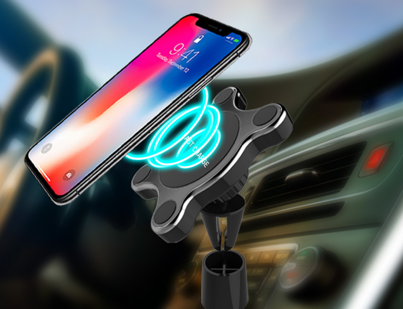 Fast Qi Wireless Car Charger Mount